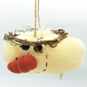 Stitchery Snowman Angel Fabric Ornament